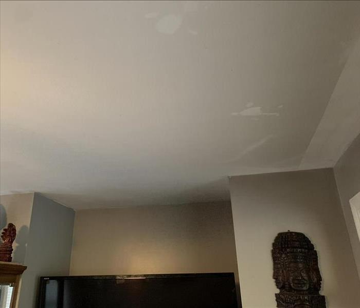 Customer's soot damaged ceiling.