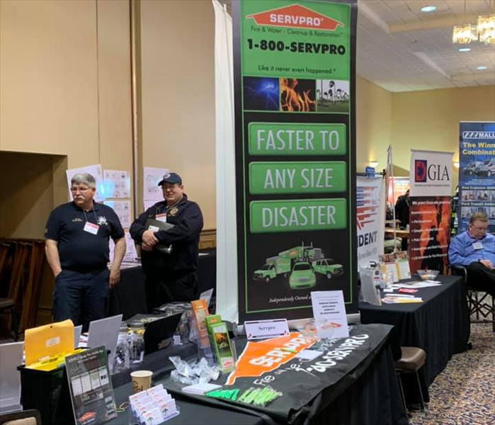 Our booth at the Firefighters Convention.